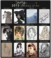 Shelly's 2015 Summary Of Art by lionbirbs