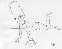 Marge Simpson by DanOblong