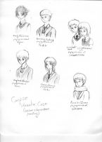 Corpse Hetalia Rough Character Roles sketches by Shonai-Cupid
