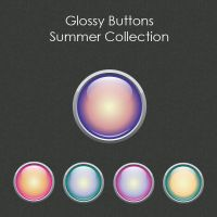 Glossy Buttons Summer Collection by SoftPurple