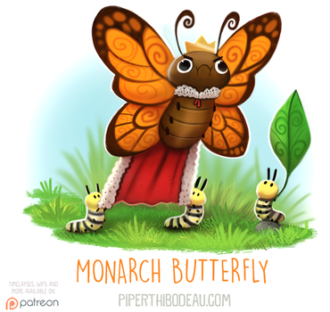 Daily Paint 1607. Monarch Butterfly by Cryptid-Creations
