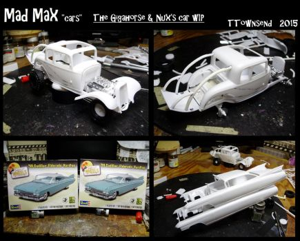 Mad max model cars - The Gigahorse , Nux's car WIP by devilsreject493