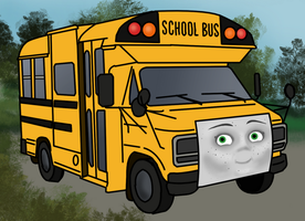 Sally the school bus by SynthaRoboto