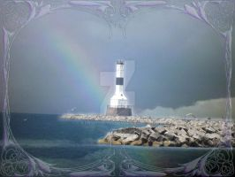 Light House Rainbow by KenshinKyo