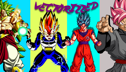 Saiyans by Vectorizzed