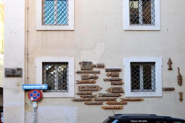 Directions in the historic center of Rome by Book-Art