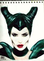 Maleficent by SketchMeIfYouCan