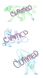 [3/3] Claimed YCH Sketches by XxSlow-BurnxX