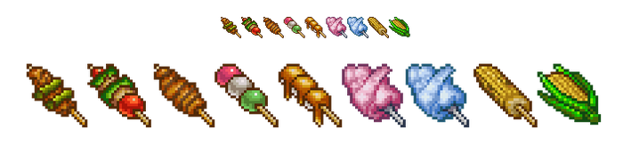 RPG Maker Food Stalls Set - PREVIEW 01 by spritemight