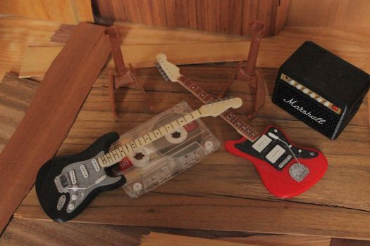 3D Printed Guitars and Amp 03 by houssamica