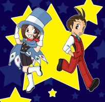 Apollo and Trucy by jewelschan