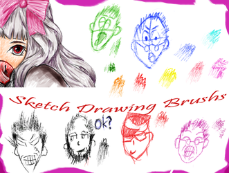 Sketch Drawing Brushes by Pebble-Art-CM