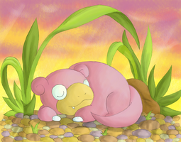 :Lazy days: Slowpoke