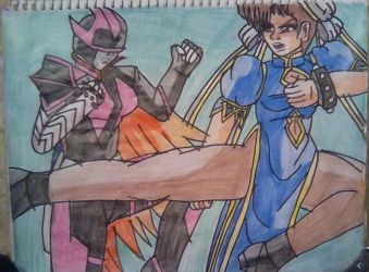 Chun Li vs  Ranger Slayer by carlos1976