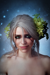 The Witcher - Flower portraits - Ciri by MilliganVick
