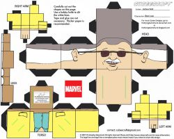 VIS1: Stan Lee Cubee by TheFlyingDachshund
