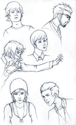Life Is Strange Sketches by friedChicken365