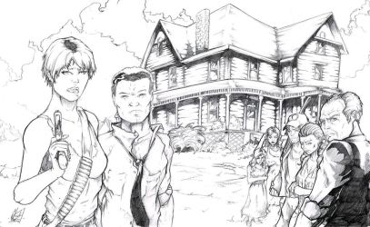 Night of the Living Dead - Cast - Pencils by TheEndofOurLives