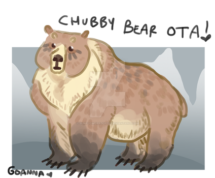 Chubby Bear Adopt SOLD by Sunfloweradopts