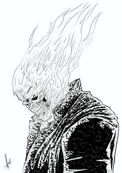 Ghost Rider Sov Inks by azzh316