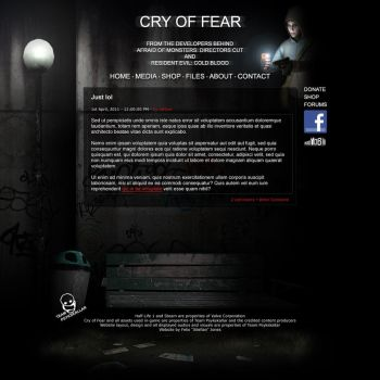 Cry of Fear homepage design by ToTac