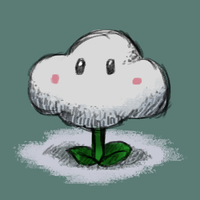 Cloud Flower (From Super Mario Galaxy 2) by RoboticTea