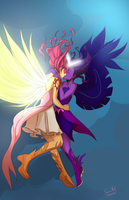 Cloud's Daydream Shimmer And Midnight Sparkle Colo by SwainArt