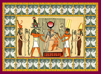 Isis Thot Horus ancient egypt gods by Mikewildt