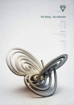 Strange Attractors - The Wang - Sun Attractor by ChaoticAtmospheres