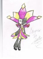 Dimentio in my fan charachter by DimensioGirl