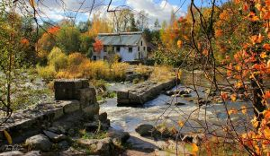 October house by the river by Pajunen