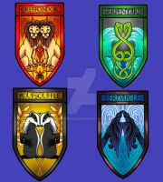 Harry Potter houses by weirdiefox