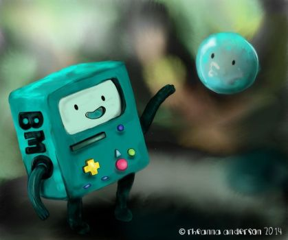 BMO and Bubble [Adventure Time Fan art!] by patchesthepheonix