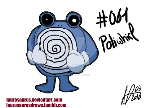 A year of pokemon: #061 Poliwhirl by Laurosaurus