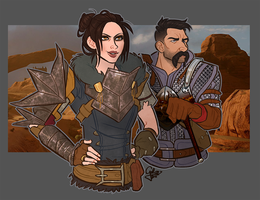 Commission: Hawke and Stroud by GalooGameLady