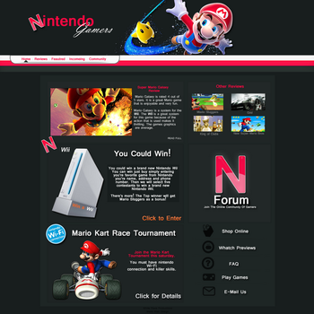 Web Design Nintendo by White--Paws