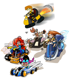 Deviant kart Collab by FlintofMother3
