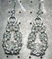 Chainmaille Earring 74 by Des804
