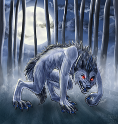 Night of the Werewolf - for Jay by Kunzai