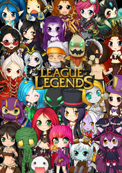 League of Legends chibis by linkitty