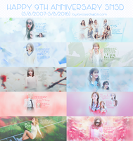 (   STOP SHARE ) Happy 9th Anniversary SNSD by KeroLee2k