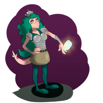 Meg and her trophy by Villainess-Vi