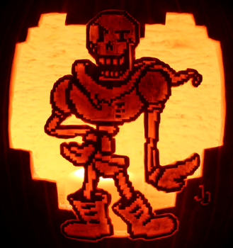 YOU'RE MEETING ALL MY STANDARDS! - Papyrus Pumpkin by johwee