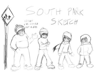 Hitokirisan 1 0 South Park Boys Sketch By
