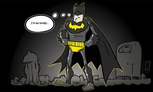Lonely Batman by TheMyopicProphet