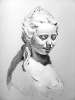 Cast Charcoal Drawing by folkeby
