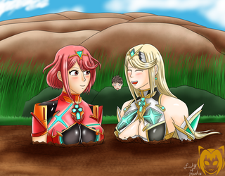 'Perhaps we should enjoy the view for a bit' (Com) by Lady-of-Mud