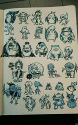 doodle of the day! Zoras!!! by Solocell
