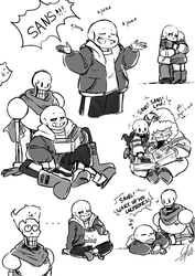 [Undertale] Sans and Papyrus by Calista-222