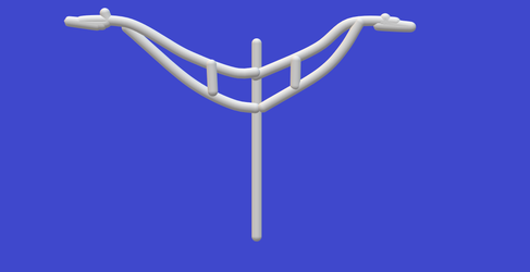 Double Truss-Arm Pole (Paint 3D) by MikeJEddyNSGamer89